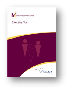 Effective You! from the McQuaig Psychometric System