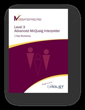 Level 3 advanced McQuaig Interpreter for the McQuaig Psychometric System