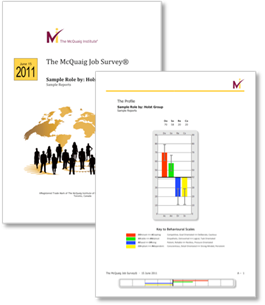 McQuaig Job Survey from the McQuaig Psychometric System