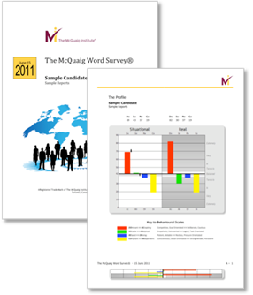 McQuaig Word Survey covers from the McQuaig Psychometric System