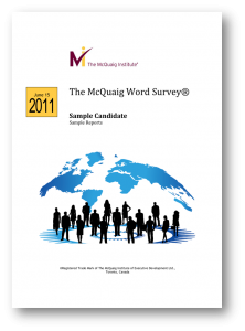 McQuaig Word Survey from the McQuaig Psychometric System
